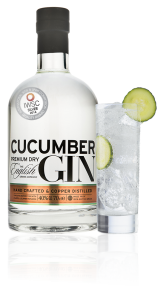 Cucumber Gin 70cl Bottle and Glass Award